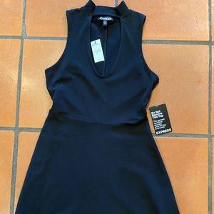 Women's Express black dress NWT xs